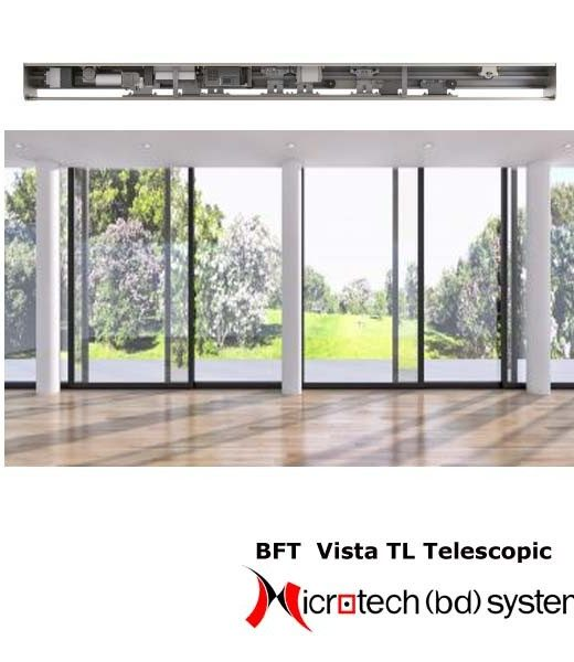 BFT Automatic Sliding Door - Vista TL Telescopic Sliding Door Solution BD