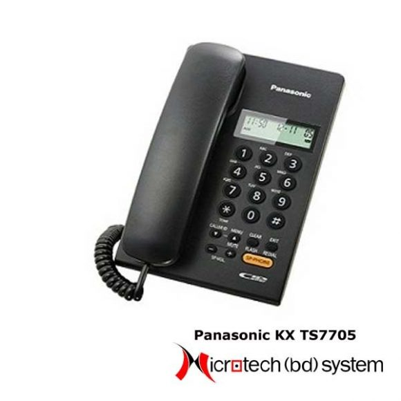 Panasonic Single Line Caller ID Telephone KX-TS7705 (With Sp-Phone) Price BD