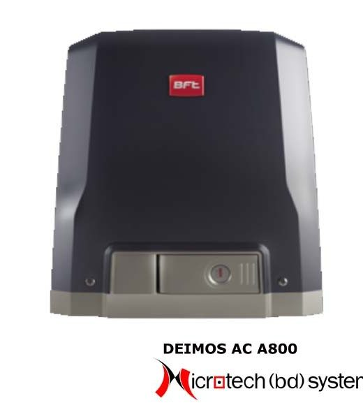DEIMOS AC A800 perator 230 V for sliding gates up to 800 kg in weight. Leaf speed 9 m/min.