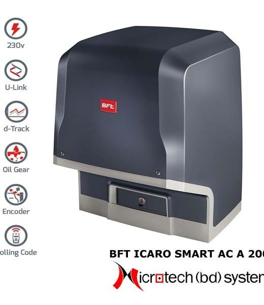 Automatic Sliding Gates ICARO SMART AC A 2000kg (230v) Solution BD